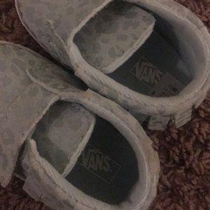 6340226eb47ee9 Vans Shoes - Vans soft sole baby shoes. Baby blue leopard.